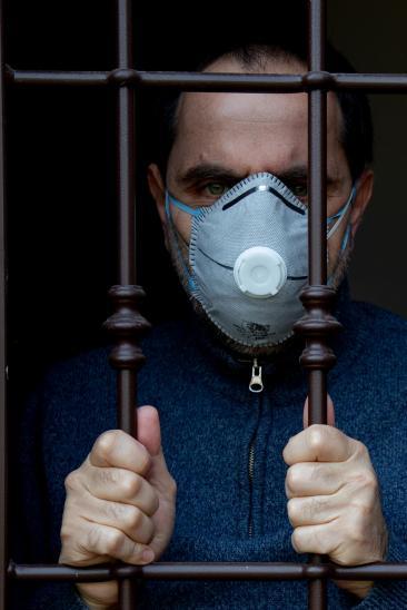 Paolo Vaccari - Autoritratto da coronavirus